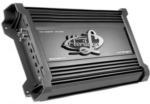 Picture of amplifier in car